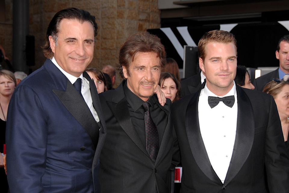 Andy Garcia, Al Pacino and Chris O'Donnell at the 35th Annual AFI Life Achievement Award: A Tribute to Al Pacino.
