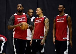 NBA: Finals-Miami Heat-Practice