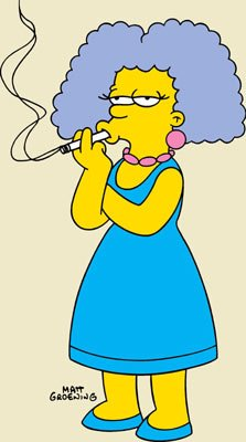 Selma Bouvier Terwilliger Hutz McClure (voiced by Julie Kavner) Fox's The Simpsons