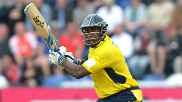 Michael Carberry smashed 18 fours and five sixes in Hampshire's victory