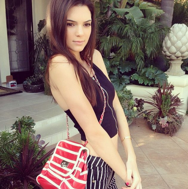Skinny Kendall Jenner shows off stick thin waist and Size 6 frame as ...