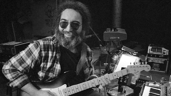 """FILE-This May 8, 1979 file photo shows Jerry Garcia, leader of the legendary group """"The Grateful Dead."""" Deadheads are uniting in opposition to a proposal to rename a San Francisco venue named in honor of Garcia, Grateful Dead founder. More than 1,100 people have signed an online petition opposing any name change to Jerry Garcia Amphitheater in Excelsior, near where the late guitarist grew up. (AP Photo)"""