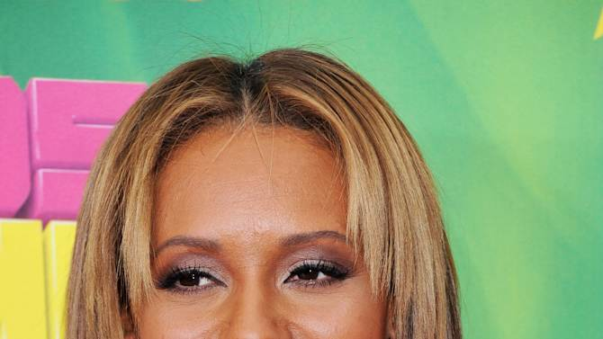 Spice Girls' Melanie Brown arrives at Nickelodeon's 24th Annual Kids' Choice Awards on Saturday, April 2, 2011, in Los Angeles. (AP Photo/Vince Bucci)