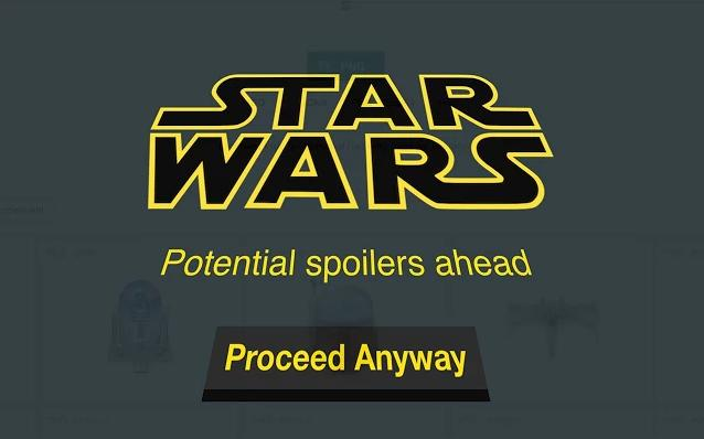 Use this Chrome extension to block all 'Star Wars: The Force Awakens' spoilers