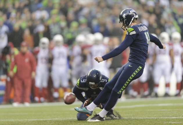 Seattle's Steven Hauschka (4) made all 44 of his PAT attempts last season. (USA TODAY Sports)