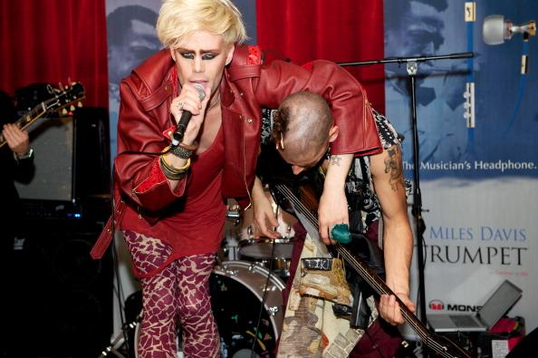 AUSTIN, TX - MARCH 20: Justin Tranter of Semi Precious Weapons performs at the Miles Davis House at SXSW on March 20, 2012 in Austin, Texas. (Photo by Earl Gibson III/Getty Images)