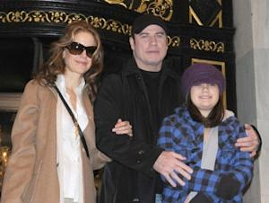 John Travolta, wife Kelly Preston and their daughter Ella Bleu Travolta are seen in New York City on February 3, 2010  -- Getty Premium