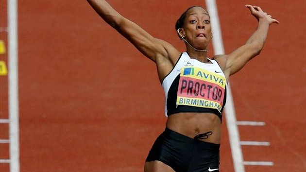 Shara Proctor wins her first national title at the Olympic trials (Reuters)
