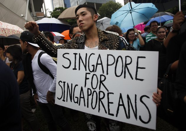 A man at the Hong Lim Park rally. Source: REUTERS