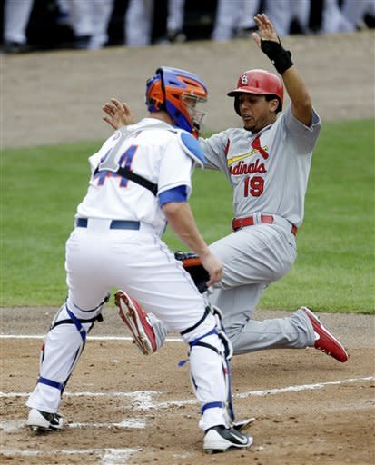 Beltran hits 2-run double as Cards beat Mets 12-4