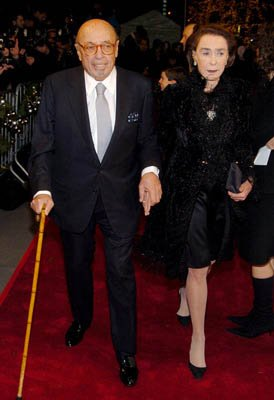 Ahmet Ertegun and wife at the NY premiere of Lions Gate's Beyond the Sea