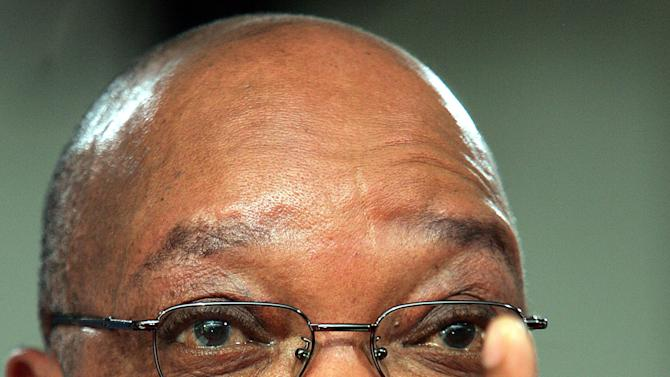 FILE - In this Thursday, Sept. 22, 2006 photo from files the former deputy president Jacob Zuma, speaks during a news conference in Johannesburg. South Africa. South Africa's governing African National Congress political party will return Sunday, Dec. 16, 2012, to where it first formed a century ago to fight apartheid to pick its next leader , at a time some believe the movement is fighting to regain its moral high ground. (AP Photo/Themba Hadebe-file)