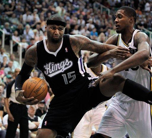 Cousins' 27 lift Kings over Jazz 104-103