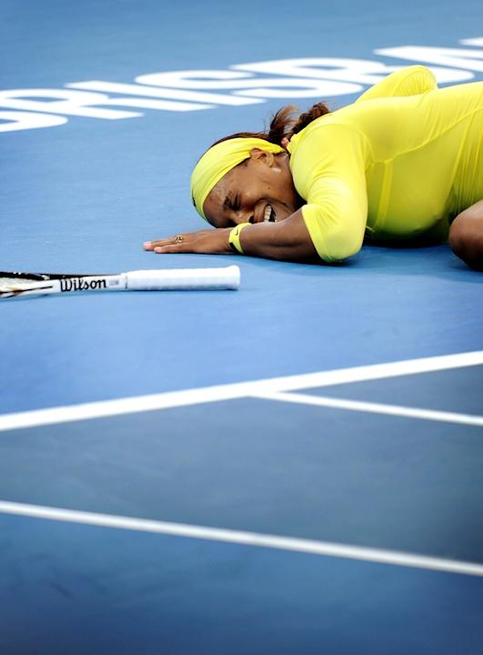 Serena Williams Of The US Cries AFP/Getty Images