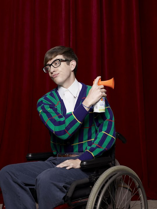 "Kevin McHale returns as Artie in ""Glee."""