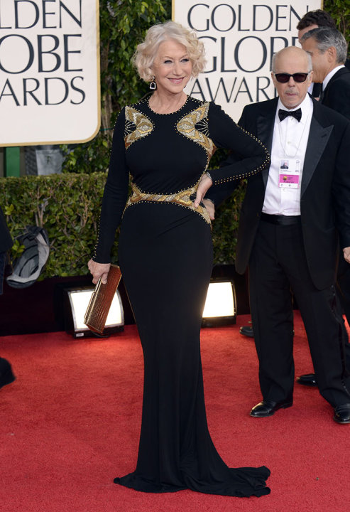 "NBC's ""70th Annual Golden Globe Awards"" - Arrivals: Helen Mirren"