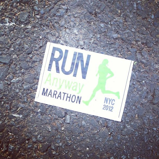 It's also being called the Run Anyway Marathon. #unofficial #nycmarathon