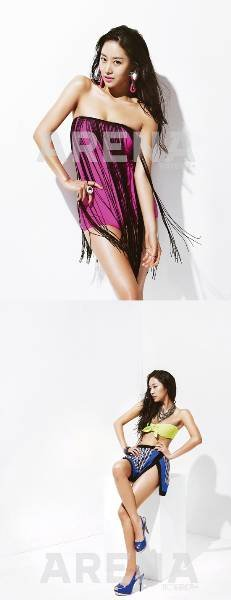 Jeon Hye Bin's Bikini Shoot for ′Arena′ Revealed