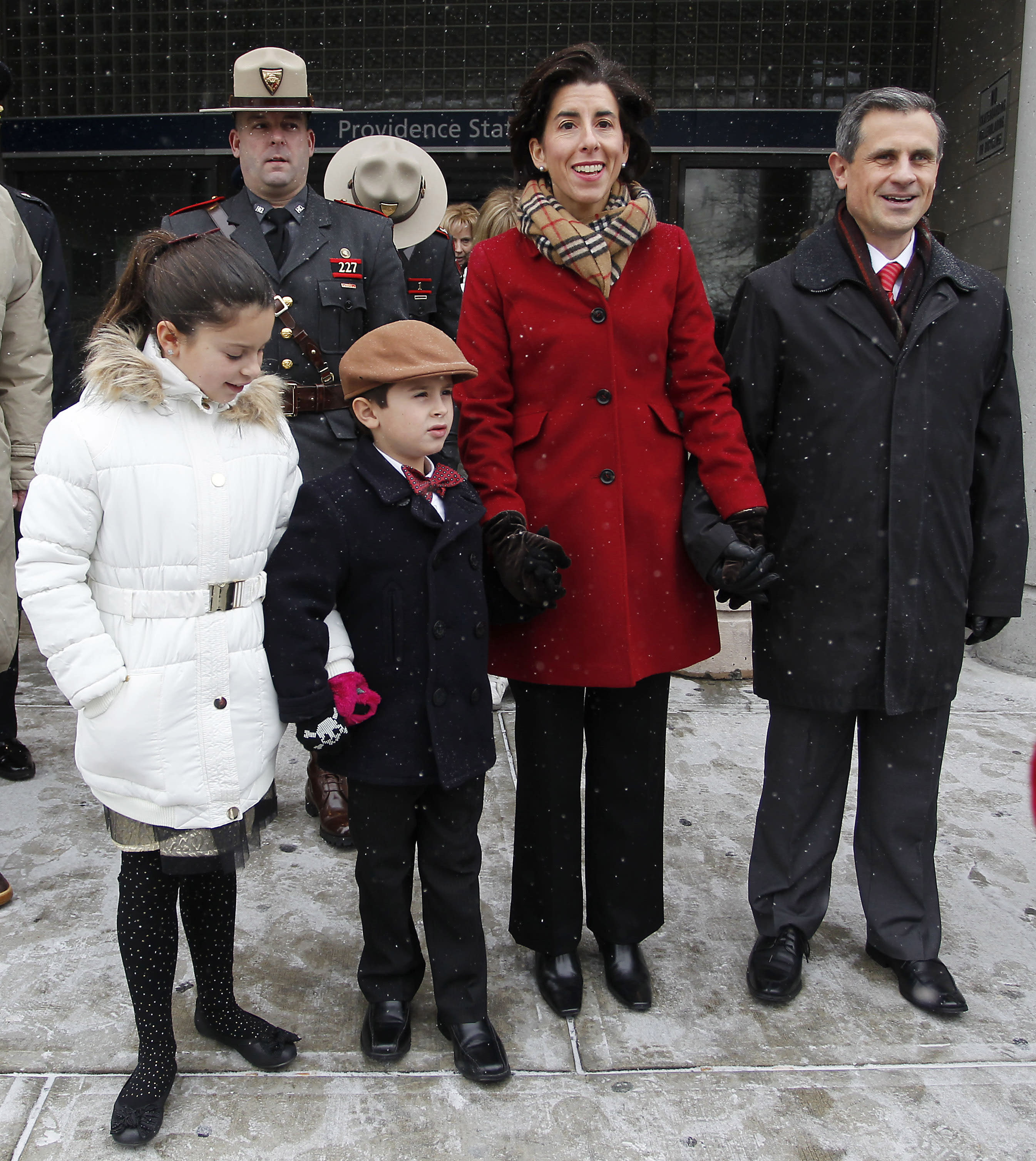 Rhode Island governor puts being a mom at center stage