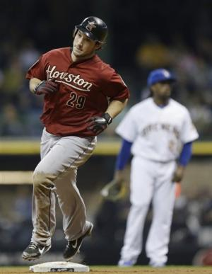 Houston's 7-6 victory dims Brewers' playoff hopes