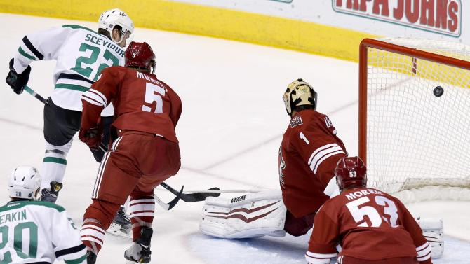 Coyotes beat Stars 2-1 to end season