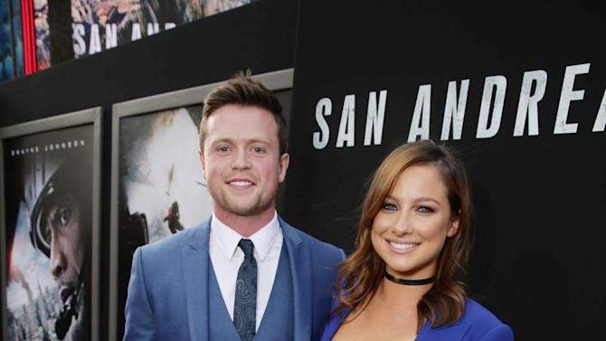 "Hugo Johnstone-Burt and Romy Poulier seen at New Line Cinema presents the Los Angeles World Premiere of ""San Andreas"" at TCL Chinese Theatre on Tuesday, May 26, 2015, in Hollywood, CA. (Photo by Eric Charbonneau/Invision for Warner Bros./AP Images)"