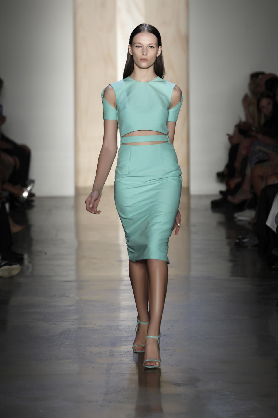 In this photo provided by Cushnie et Ochs, the Cushnie et Ochs Spring 2013 collection is modeled during Fashion Week in New York, Friday, Sept. 7, 2012. (AP Photo/Cushnie et Ochs,Thomas Kletecka)