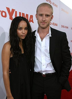Zoe Kravitz and Ben Foster at the Los Angeles premiere of Lionsgate Films' 3:10 to Yuma