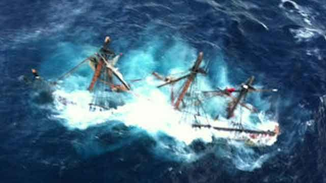 Captain still missing from replica of HMS Bounty