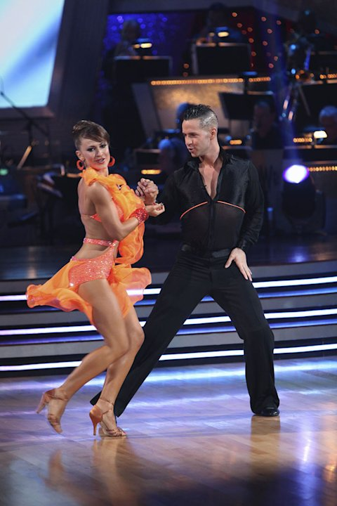 "Karina Smirnoff and Mike ""The Situation"" Sorrentino perform on ""Dancing with the Stars."""