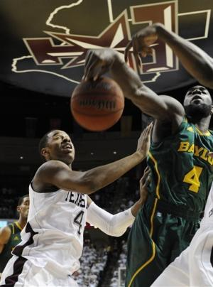 No. 6 Baylor beats Texas A&M 63-60