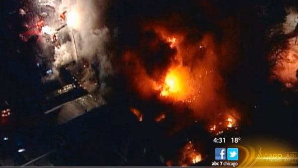 Wisconsin fire at food plant burns 17 hours