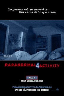 Póster de Paranormal activity 4
