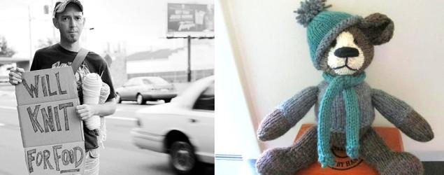Knitting (yes, knitting) saves homeless man's life
