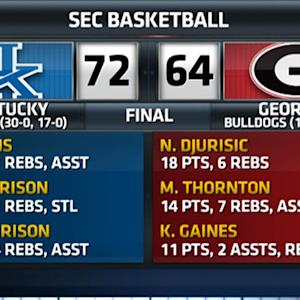 Kentucky holds on to beat Georgia