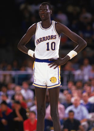 7-foot-7 Manute Bol, the tallest player in NBA history &#8212; Getty