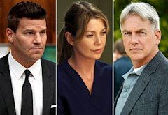 David Boreanaz, Ellen Pompeo, Mark Harmon | Photo Credits: Patrick McElhenney/FOX; Danny Feld/ABC; Michael Yarish/CBS