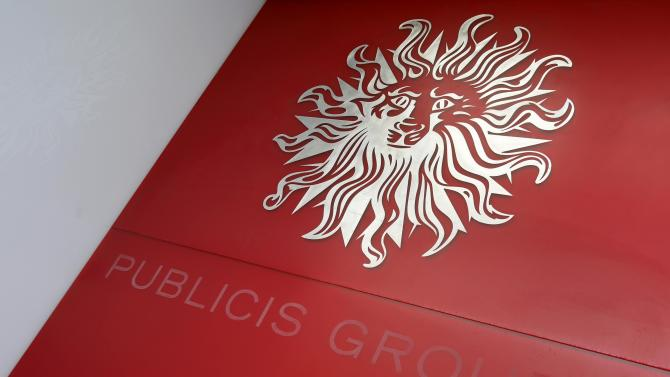 The logo of Publicis Groupe is seen at the company's headquarters in Paris