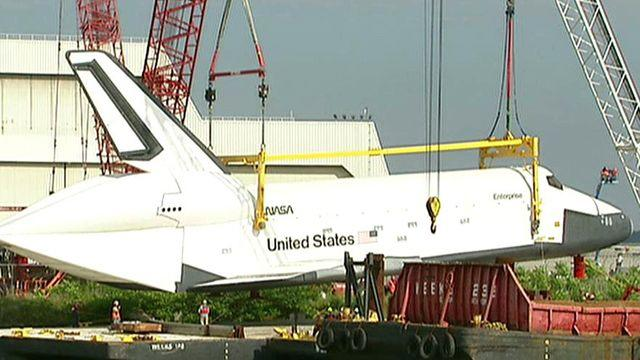 Space Shuttle Enterprise on the move again
