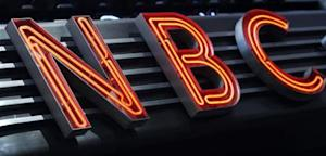 NBC sign on the General Electric building in New York