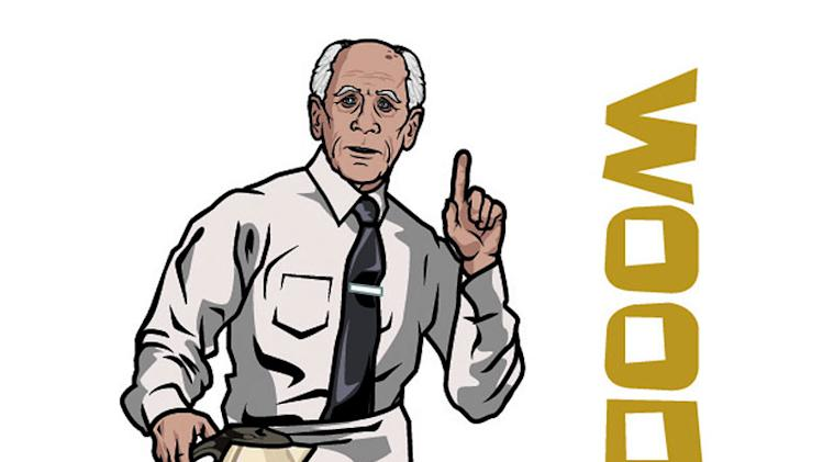 "Woodhouse (voiced by George Coe) in ""Archer."""