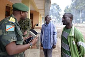 FARDC governmental troops spokesman Olivier Amuli talks …