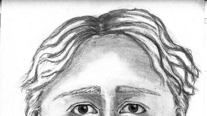This sketch released Tuesday, April 30, 3013, by police in Norton Shores, Mich., shows a man wanted for questioning in the April 27 disappearance of Jessica Heeringa, 25, from a gas station where she was working as a clerk. Police say the man was driving a gray minivan and say he is white, age 30 to 40, about 6 feet tall, with light brown wavy hair. The description is from witnesses who saw the van parked near the station and driving away. (AP Photo/Norton Shores Police Department)