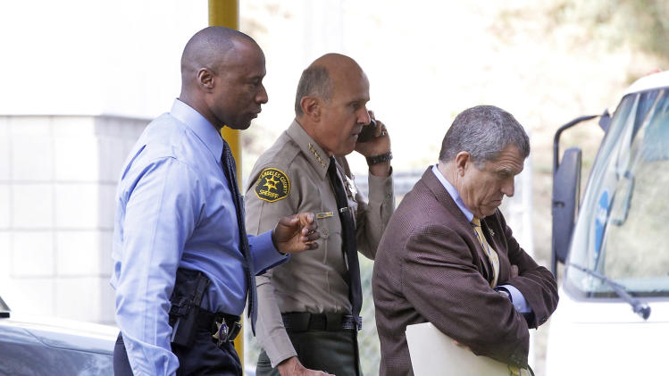 Los Angeles County Sheriff Lee Baca, center, with Public Information