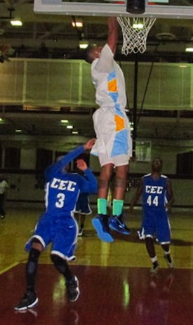 Communications Tech senior Terrence Brown dunks against Conwell-Egan &#x002014; Philadelphia Daily News