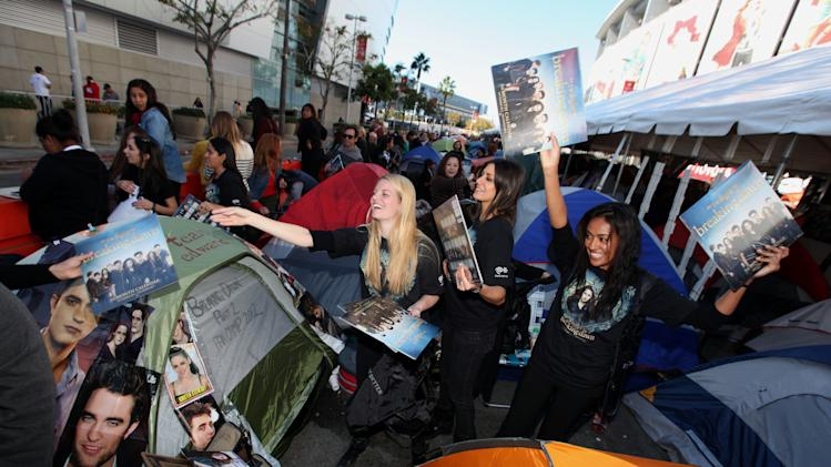 Fans are seen at the Time Warner Cable and Twilight Fan Breakfast on Sunday, Nov. 11, 2012 in Los Angeles. (Photo by Casey Rodgers/Invision for Time Warner Cable/AP Images)