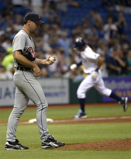 Jennings homers twice off Verlander in Rays' win