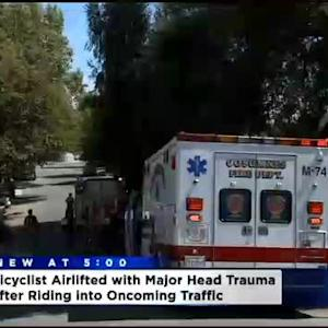 Bicyclist Riding Into Oncoming Traffic Injured After Colliding With Vehicle