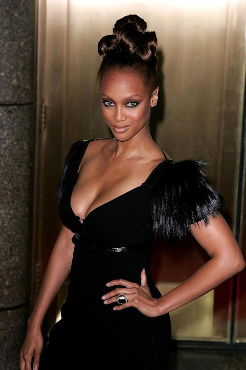 Tyra Banks arrives at Conde Nast Media Group's 4th Annual Fashion Rocks at Radio City.
