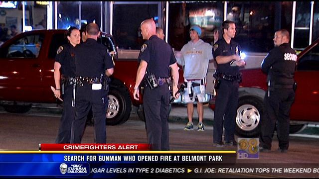 Search for gunman who opened fire at Belmont Park